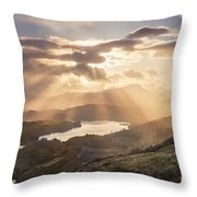 Loch Ard Sunburst 1 Throw Pillow