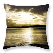Loch Bracadale Sunset Throw Pillow