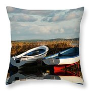 Loch Harray Dawn V Throw Pillow
