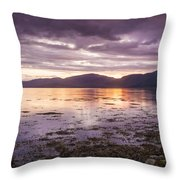 Loch Linnhe - The Last Rays Of The Sun. Throw Pillow