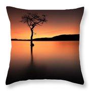 Loch Lomond Afterglow Throw Pillow