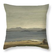 Loch Nell, 1930-1935, By Sir David Cameron Throw Pillow