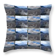 Loch Ness In Squares Throw Pillow
