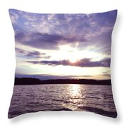 Loch Raven Sunrise Throw Pillow