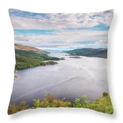 Loch Riddon And Isle Of Bute Throw Pillow