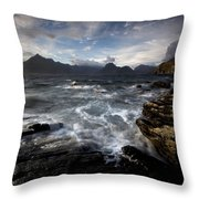 Loch Scavaig And The Cuillin Throw Pillow