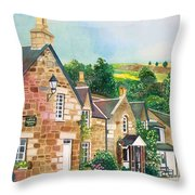Loch Tummel Innn - Scotland Throw Pillow