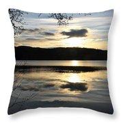 Loch Venacher Sunset Throw Pillow