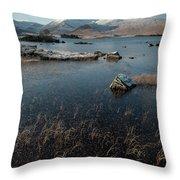 Lochan Nah-achlaise, Rannoch Moor, Scotland Throw Pillow