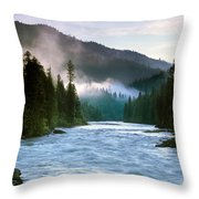 Lochsa River Throw Pillow