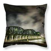 Lock 8 Erie Canal Throw Pillow