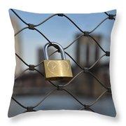 Lock And Bridge  Throw Pillow