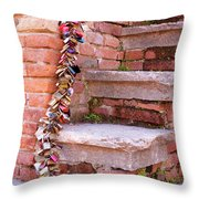 Lock And Step Throw Pillow