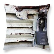 Lock City Throw Pillow