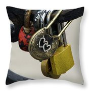Lock With Rhinestones Throw Pillow