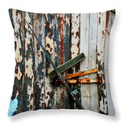 Locked Door Throw Pillow