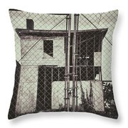 Locked Fence Throw Pillow