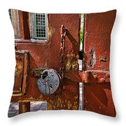 Locked Gate Throw Pillow