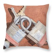 Locked In An Embrace Throw Pillow