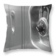 Locked Locker Throw Pillow