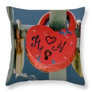 Locked Love Throw Pillow