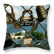 Locked Throw Pillow by Milan Mirkovic