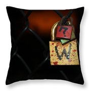 Locked Questions Throw Pillow