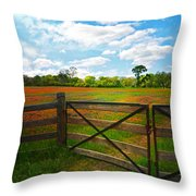 Locked Up Beauty Throw Pillow