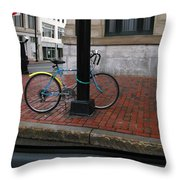 Locked Up In The City Throw Pillow