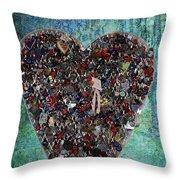Locket Heart-3 Throw Pillow