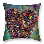 Locket Heart-4 Throw Pillow