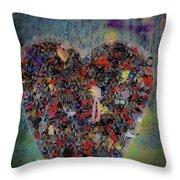 Locket Heart-6 Throw Pillow