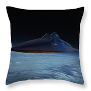 Lockheed A-12 Oxcart Oil Throw Pillow