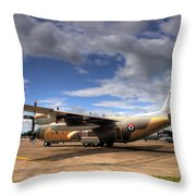 Lockheed C130h Of The Royal Jordanian Airforce. Throw Pillow by Mike Lester