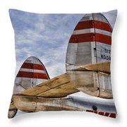 Lockheed Constellation Throw Pillow