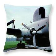 Lockheed Ec-121d Warning Star, Early Warning Aircraft Throw Pillow