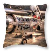 Lockheed F-94 Model C Starfire Throw Pillow
