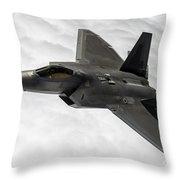 Lockheed Martin F-22 Raptor, 2015 Throw Pillow