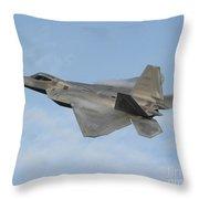 Lockheed Martin F-22 Raptor, 2016 Throw Pillow
