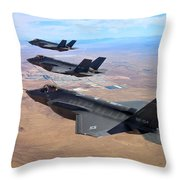 Lockheed Martin F-35 Lightning II Throw Pillow