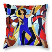 Loco Caliente Throw Pillow