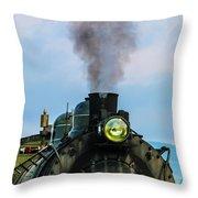 Locomotive 26 Steamtown  Throw Pillow