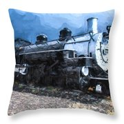 Locomotive 495 A Romantic View Throw Pillow