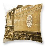 Locomotive And Coal Car Of Yesteryear Throw Pillow
