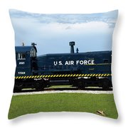 Locomotive For Titan Rockets At Cape Canaveral In  Florida Throw Pillow