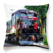 Locomotive In Color Throw Pillow