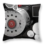 Locomotive Number Five Throw Pillow