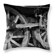 Locomotive Wheels Throw Pillow