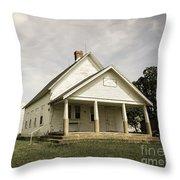 Locust Prairie One Room School Aged Throw Pillow