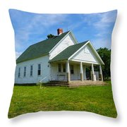 Locust Prairie School Throw Pillow